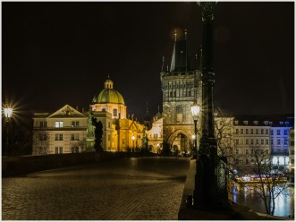 nachts auf der Karlsbrücke
