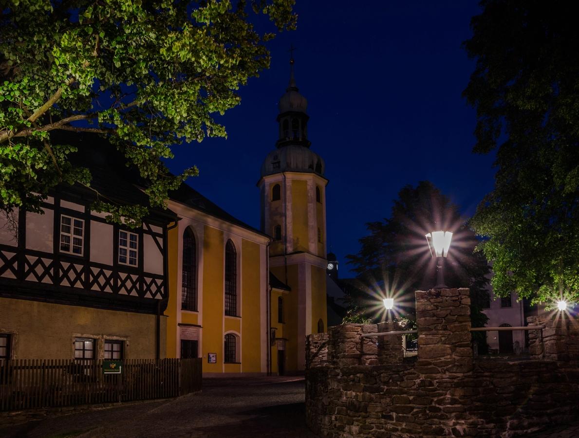 Nachts in Wolkenstein/Erzgebirge