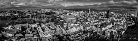 Pano der Altstadt vom Turm der Marienkirche gesehen
