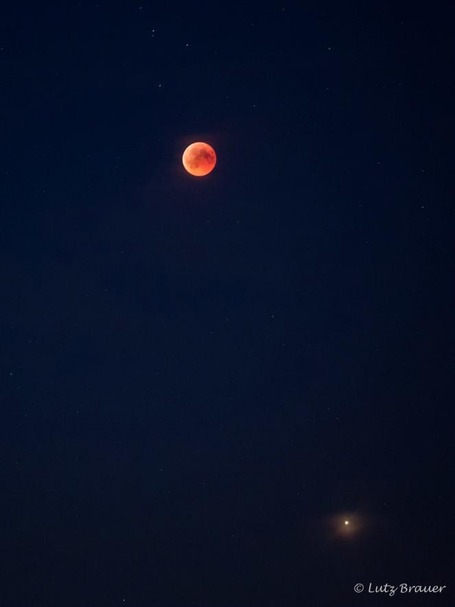 Blutmond und Mars