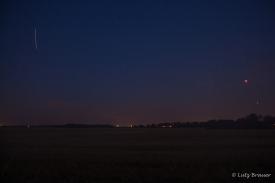 ISS-Überflug, Blutmond und Mars