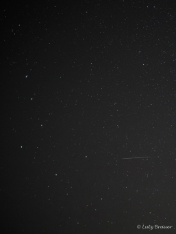 Sternschnuppe am Sternbild des Großen Bären