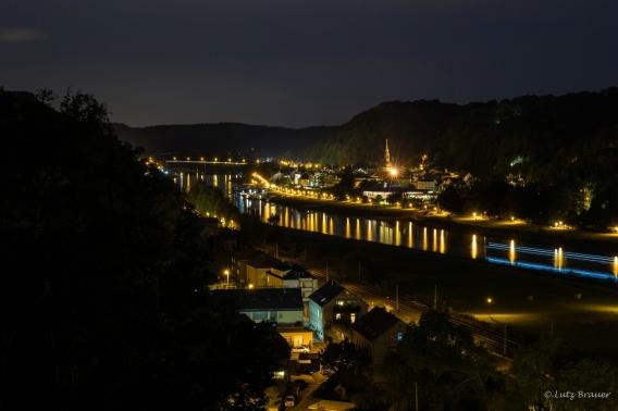 Blick von der Carola-Aussicht auf Bad Schandau